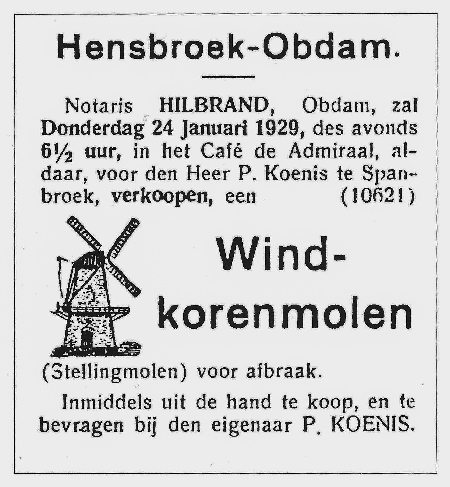 """1929 Sloop van de """"De Jonge Ruiter"""""""